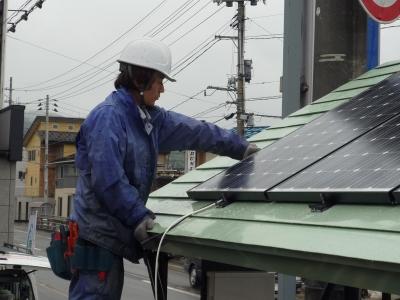 太陽光発電パネル取付状況