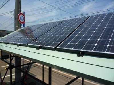 太陽光発電パネル設置完了