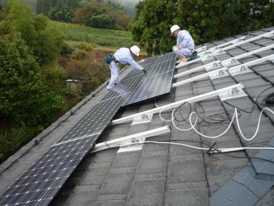 N様太陽光発電設置工事~太陽光パネル設置状況