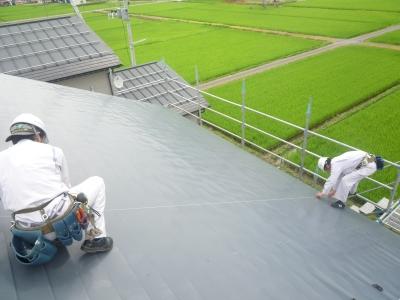 太陽光発電設置工事~墨だし状況