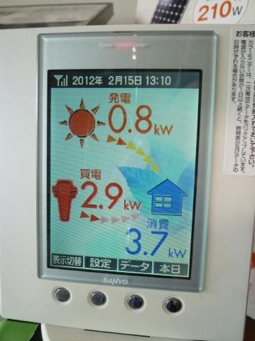 2012.2.16 PM1:10の発電量