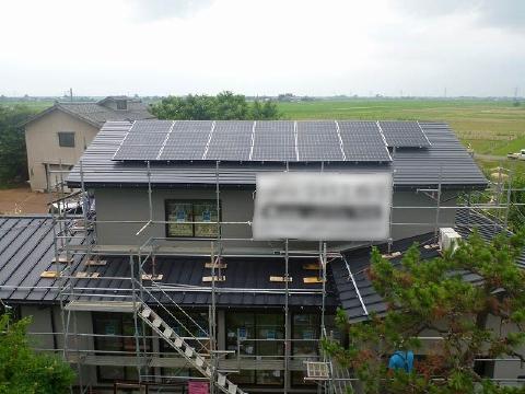 長岡市K様邸太陽光発電設備